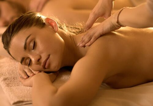 Nice massage in the residence spa with natural products
